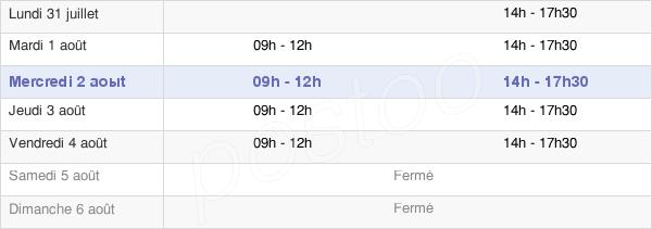 horaires d'ouverture de la Mairie De La Croix Saint Ouen