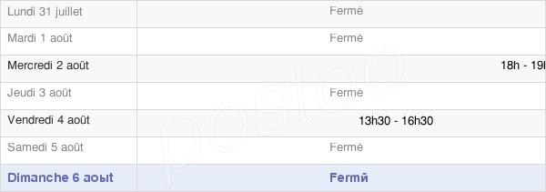 horaires d'ouverture de la Mairie De Sentelie