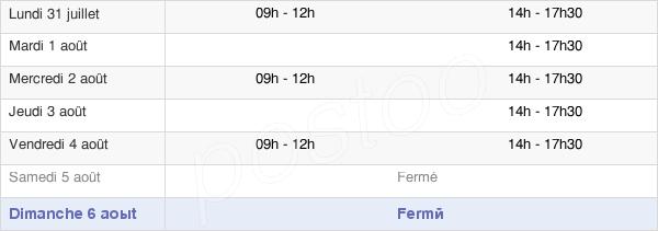 horaires d'ouverture de la Mairie De Lassigny