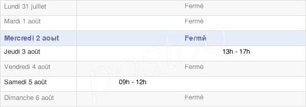 horaires d'ouverture de la Mairie De Saint-Pierre-Les-Bitry