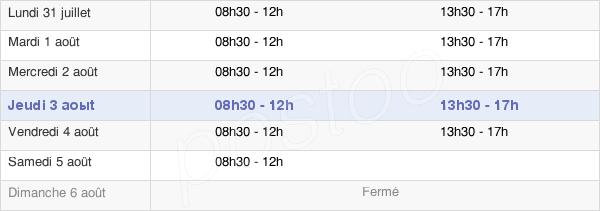 horaires d'ouverture de la Mairie De Compiègne