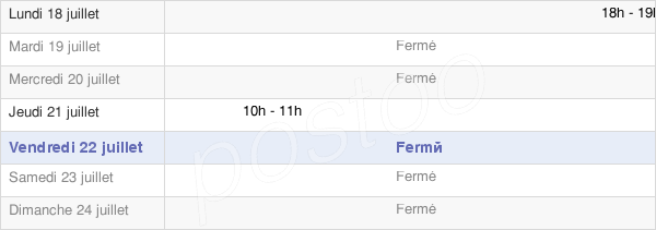 horaires d'ouverture de la Mairie De Maucourt