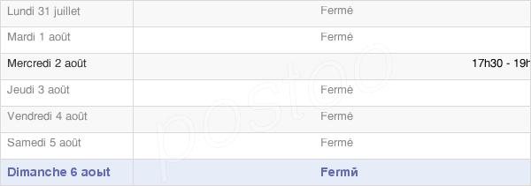 horaires d'ouverture de la Mairie De Mericourt Sur Somme