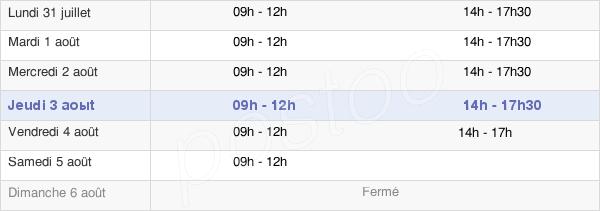horaires d'ouverture de la Mairie De Clermont