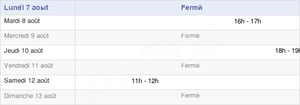 horaires d'ouverture de la Mairie De Fins
