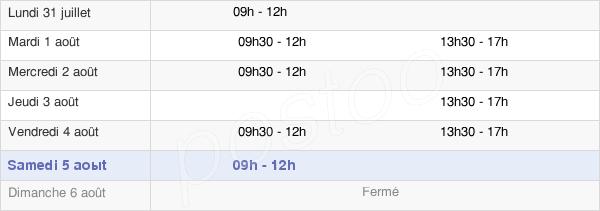 horaires d'ouverture de la Mairie De Trévenans