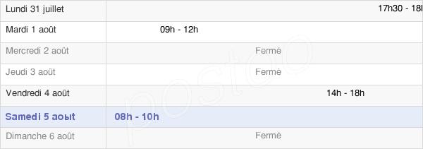 horaires d'ouverture de la Mairie De Villars-Le-Sec