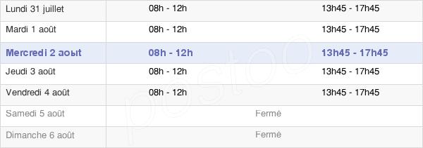 horaires d'ouverture de la Mairie De Nesle