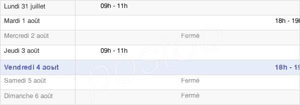 horaires d'ouverture de la Mairie De Saint-Dizier-L'Évêque