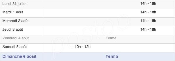 horaires d'ouverture de la Mairie De Meroux