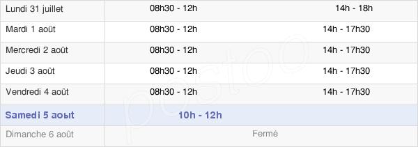 horaires d'ouverture de la Mairie De Beaucourt