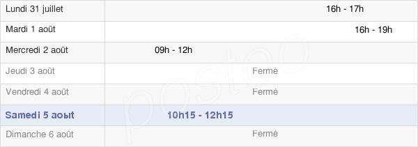 horaires d'ouverture de la Mairie De Croix