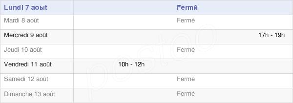 horaires d'ouverture de la Mairie De Puzeaux