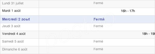 horaires d'ouverture de la Mairie De Froyelles