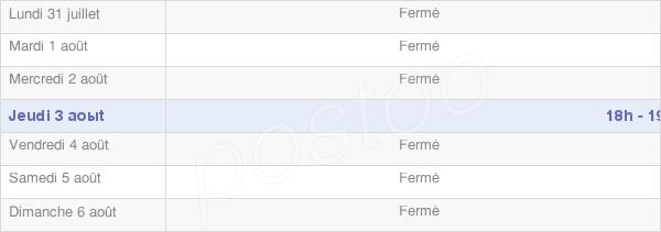 horaires d'ouverture de la Mairie De Vauchelles-Lès-Domart