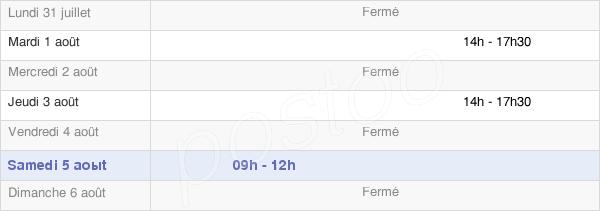 horaires d'ouverture de la Mairie De Saint-Michel-De-Montjoie