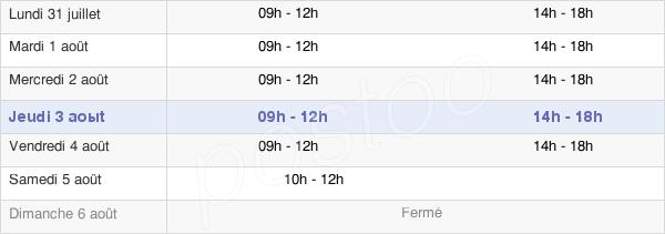 horaires d'ouverture de la Mairie De Gamaches