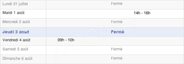 horaires d'ouverture de la Mairie De Parvillers-Le-Quesnoy