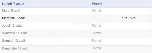 horaires d'ouverture de la Mairie De Fransures