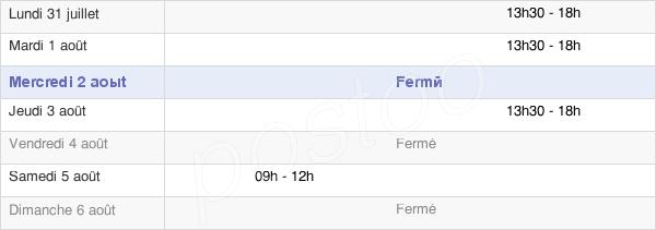 horaires d'ouverture de la Mairie De Saint-Sauflieu