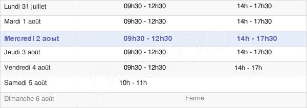 horaires d'ouverture de la Mairie De Picquigny