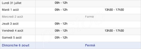 horaires d'ouverture de la Mairie De Saint-Martin-De-Landelles