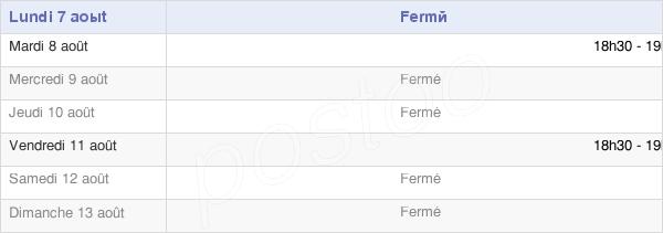 horaires d'ouverture de la Mairie D'Equennes-Eramecourt