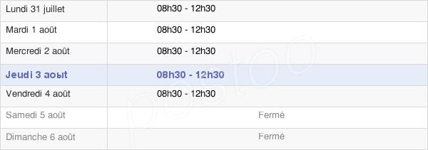 horaires d'ouverture de la Mairie De Saint-Pois