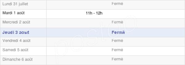 horaires d'ouverture de la Mairie De Mereaucourt