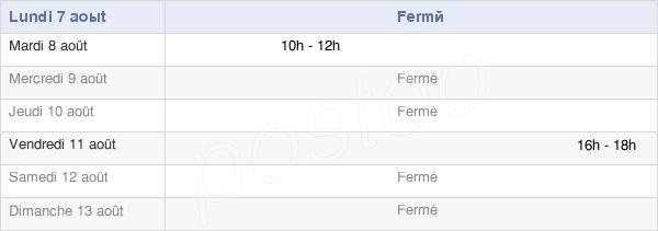 horaires d'ouverture de la Mairie De Saint-Senier-De-Beuvron
