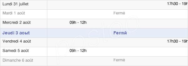 horaires d'ouverture de la Mairie De Mons-Boubert