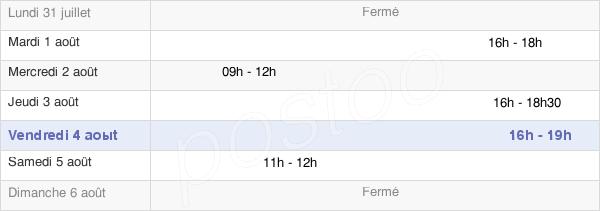 horaires d'ouverture de la Mairie De Le Quesnel