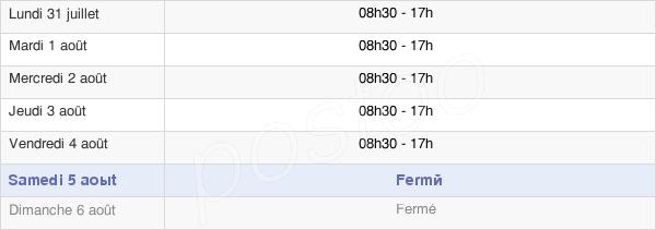 horaires d'ouverture de la Mairie De Sailly-Labourse