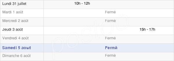 horaires d'ouverture de la Mairie De Regnière-Écluse