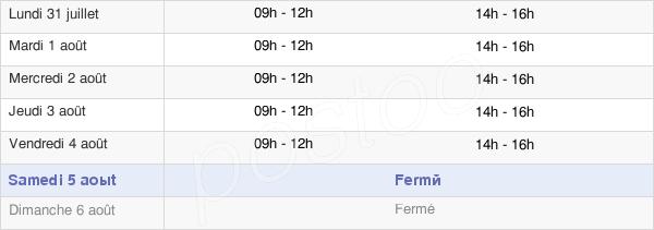 horaires d'ouverture de la Mairie De Pas-En-Artois