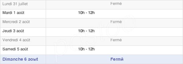 horaires d'ouverture de la Mairie De Sailly-Au-Bois