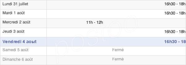 horaires d'ouverture de la Mairie De Ville-Le-Marclet