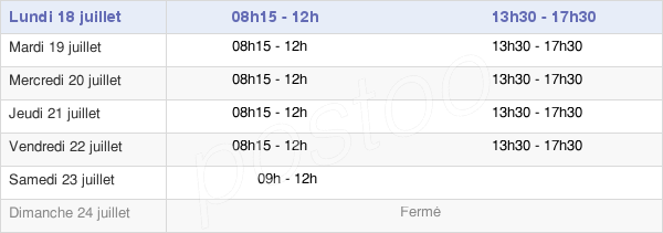 horaires d'ouverture de la Mairie D'Hersin-Coupigny