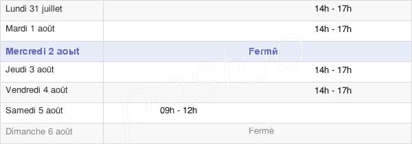 horaires d'ouverture de la Mairie De Mondicourt