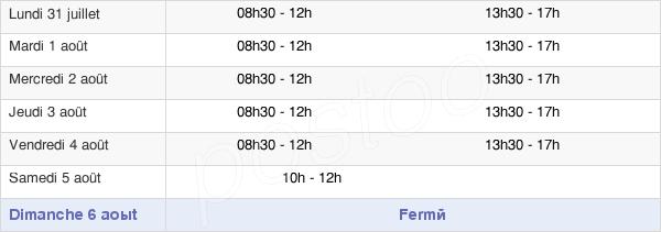 horaires d'ouverture de la Mairie De Bully-Les-Mines