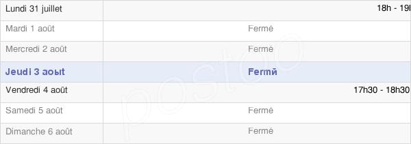 horaires d'ouverture de la Mairie De La Vicogne
