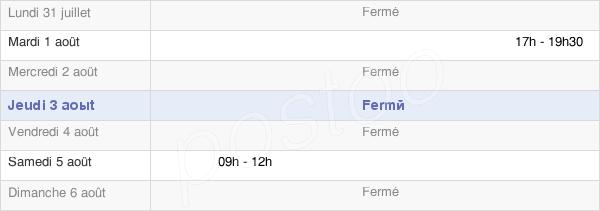 horaires d'ouverture de la Mairie D'Humbercourt