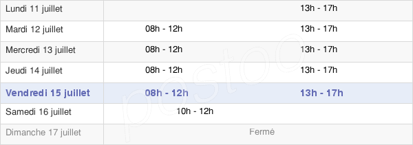 horaires d'ouverture de la Mairie De Meurchin