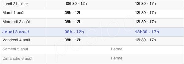 horaires d'ouverture de la Mairie De Saint-Omer
