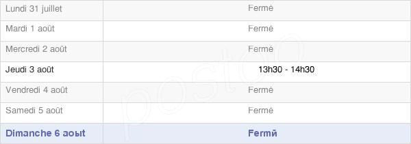 horaires d'ouverture de la Mairie De Crémery