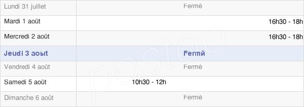 horaires d'ouverture de la Mairie De Souastre