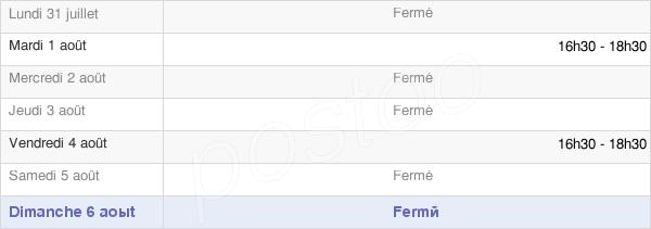 horaires d'ouverture de la Mairie De Buire-Au-Bois