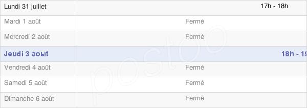 horaires d'ouverture de la Mairie De Meneslies