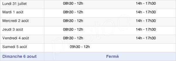 horaires d'ouverture de la Mairie De Lestrem
