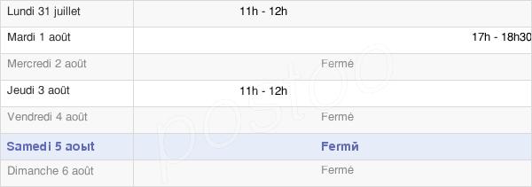horaires d'ouverture de la Mairie De Beauvoir-Wavans